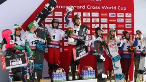 Charlotte and Manon take 3rd in Montafon